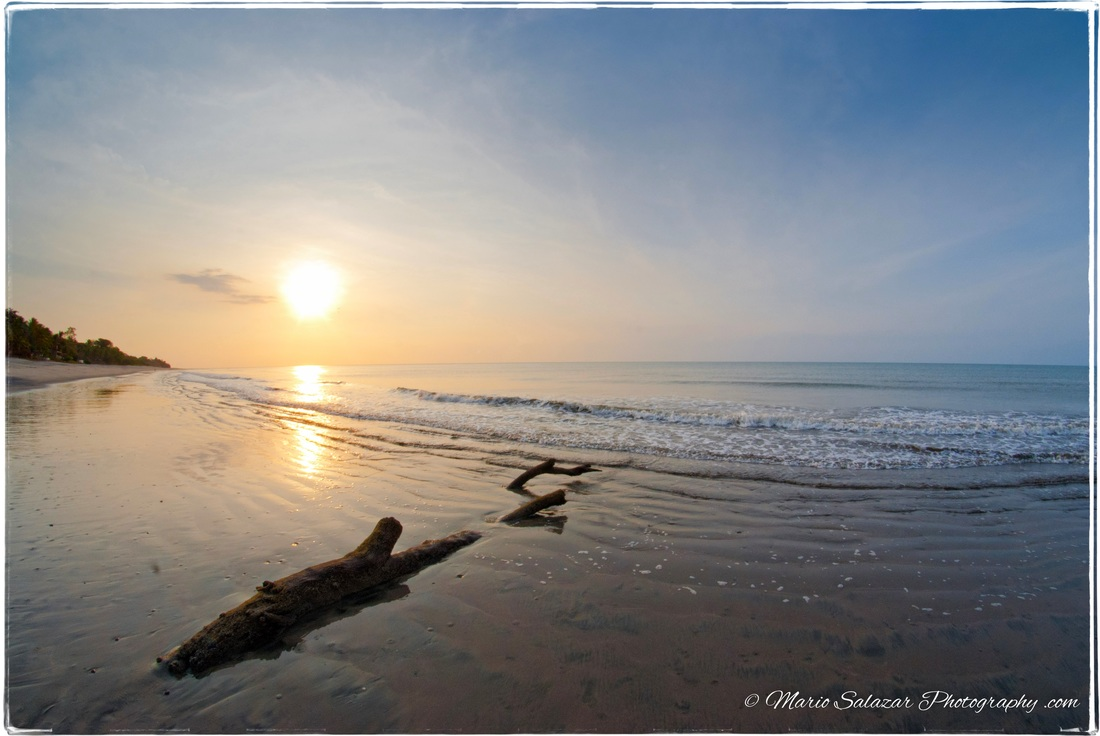 sunrise beach ocean seaside surf morning beauty calm peace Panama