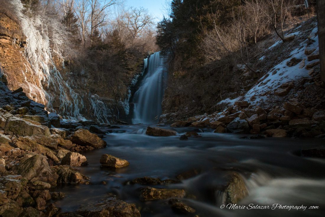 waterfall nature landscape winter photography sunrise creek